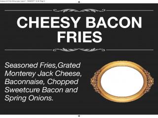 Cheesy bacon fries