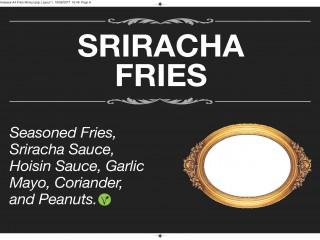 Sriracha fries